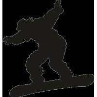 Человек катающийся на сноуборде с широко расставленными руками