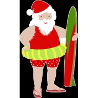 Санта Клаус - серфер