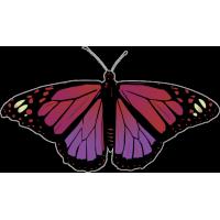 Бабочка чёрно-сиренево-мвлинового цвета