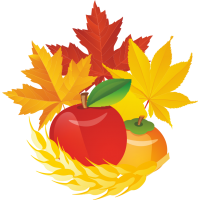 Яблока с осенними листьями