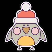 Птичка в шапке