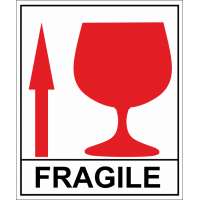 На багаж - осторожно хрупкое , fragile