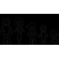 Семья - папа, мама, 2 сына и дочь