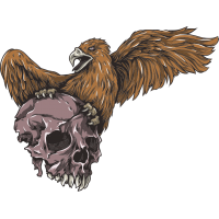 Череп в когтях орла