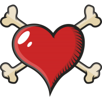 Сердце с костями
