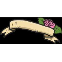 Лист бумаги и роза