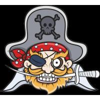 Пират с кинжалом в зубах