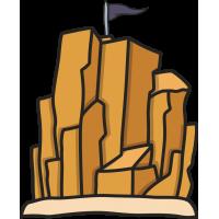 Скала, наверху которой флаг