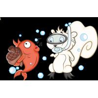 Белка с рыбой