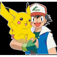 Мальчик с покемоном Пикачу