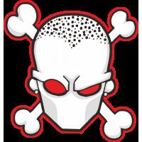 Белая маска с костями