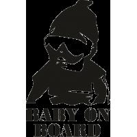 Baby on board - Ребенок на борту - другой шрифт