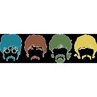 The Beatles - Битлз силуэты