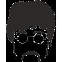 The Beatles - Битлз силуэты Джон Леннон