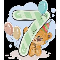 Медвежонок и цифра семь