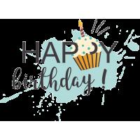 С днем рождения - Happy birthday
