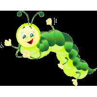 Мультяшная гусеница