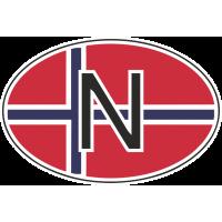 Флаг Норвегии в овале 2