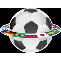 Мяч и флаги стран участников
