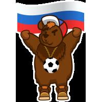 Медведь - Футбольный Болельщик