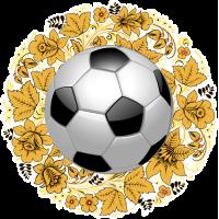 Хохлома, футбольный мяч. Русская хохломская роспись