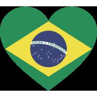 Сердце Флаг Бразилии (Бразильский Флаг в форме сердца)