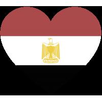 Сердце Флаг Египта (Египетский Флаг в форме сердца)
