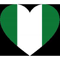 Сердце Флаг Нигерии (Нигерийский Флаг в форме сердца)