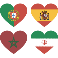 Тату Набор Группа Б (Сердца-Флаги Стран Участников Чемпионата Мира По Футболу 2018)