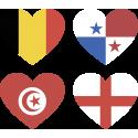 Набор Группа G (Сердца-Флаги Стран Участников Чемпионата Мира По Футболу 2018)