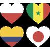 Набор Группа H (Сердца-Флаги Стран Участников Чемпионата Мира По Футболу 2018)