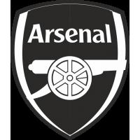 Логотип Arsenal FC - Арсенал черно-белый