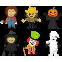 Набор наклеек герои фильмов ужасов Хэллоуин Хоррор
