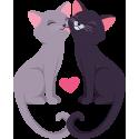 Влюбленные кот и кошка